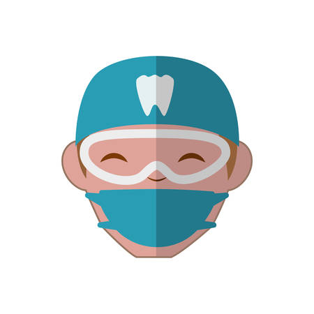 doctor appointment: Dental care concept represented by dentist doctor icon. isolated and flat illustration
