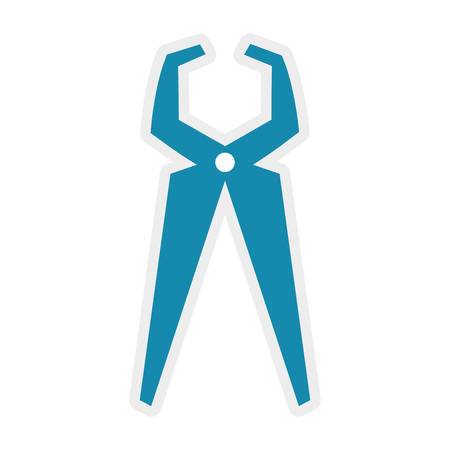 hygienist: Dental care instrument concept represented by pliers icon. isolated and flat illustration