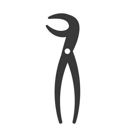 doctor appointment: Dental care instrument concept represented by pliers icon. isolated and flat illustration