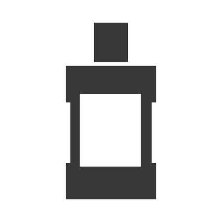 enjuague bucal: concepto de cuidado dental instument representada por el icono de enjuague bucal. aislado y plana ilustración Vectores