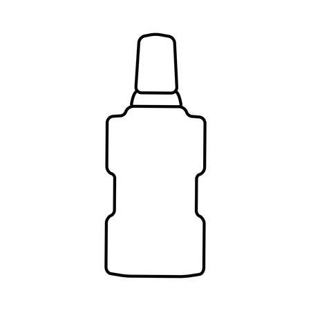 mouthwash: concepto de cuidado dental instument representada por el icono de enjuague bucal. aislado y plana ilustración Vectores