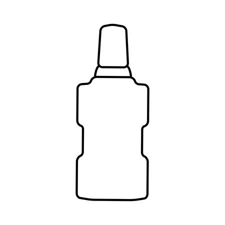 mouthwash: Dental care instument concept represented by mouthwash icon. isolated and flat illustration