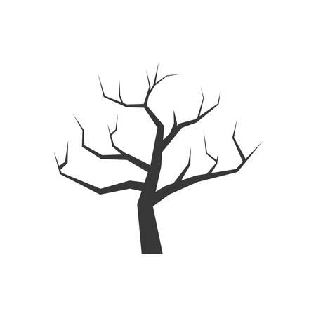Natur und Anlagenkonzept durch trockenen Baum Symbol dargestellt. isoliert und flach Illustration