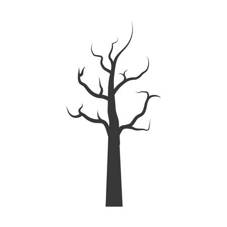 leafless: Nature and plant concept represented by dry tree icon. isolated and flat illustration
