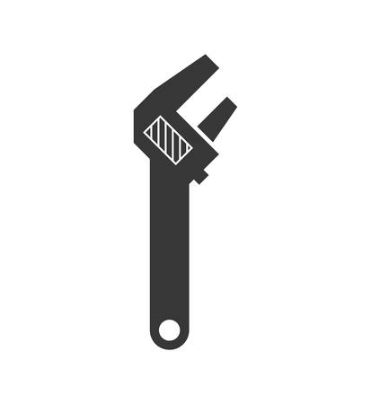 constuction: Constuction and repair concept represented by wrench tool icon. isolated and flat illustration
