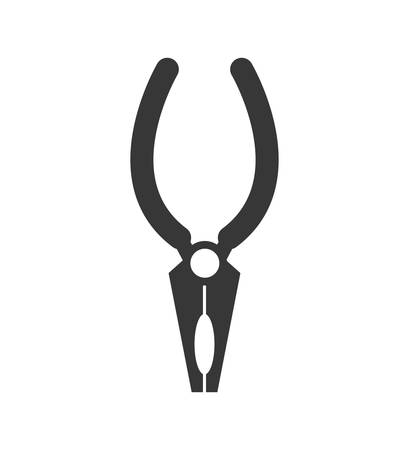 constuction: Constuction and repair concept represented by Pliers tool icon. isolated and flat illustration
