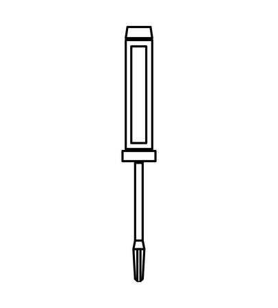 constuction: Constuction and repair concept represented by screwdriver tool icon. isolated and flat illustration