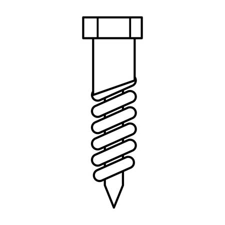 constuction: Constuction and repair concept represented by nut tool icon. isolated and flat illustration Illustration