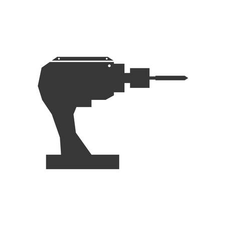 constuction: Constuction and repair concept represented by drill tool icon. isolated and flat illustration