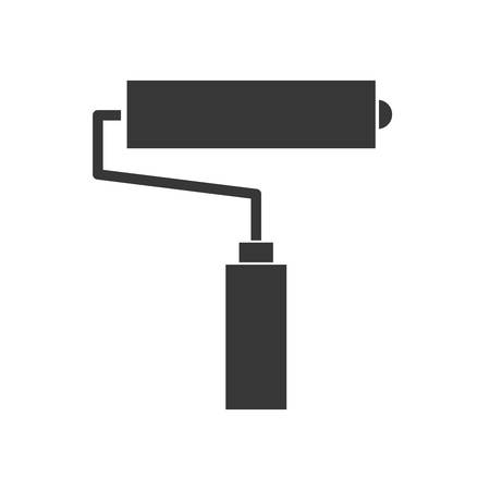 constuction: Constuction and repair concept represented by paint roll tool icon. isolated and flat illustration