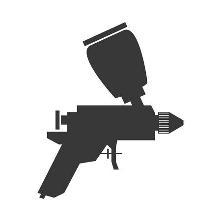 paint tool: Constuction and repair concept represented by spray paint tool icon. isolated and flat illustration