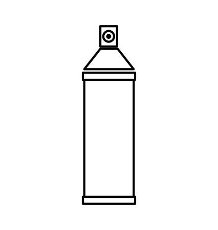 constuction: Constuction and repair concept represented by spray paint tool icon. isolated and flat illustration