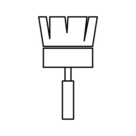 constuction: Constuction and repair concept represented by paint brush tool icon. isolated and flat illustration Illustration