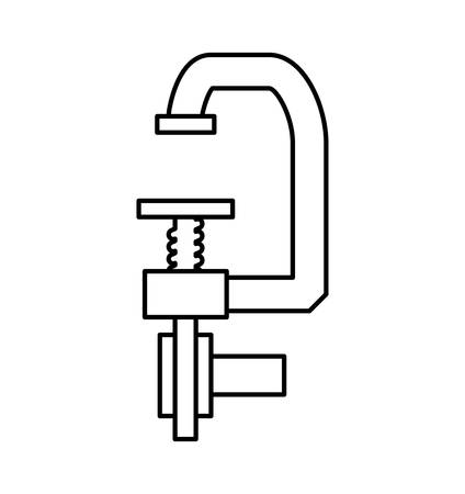 constuction: Constuction and repair concept represented by tool icon. isolated and flat illustration