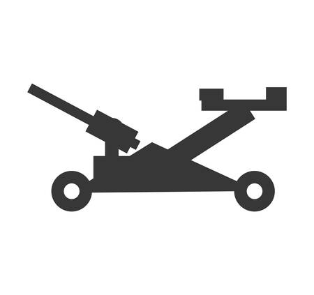 constuction: Constuction and repair concept represented by jack tool icon. isolated and flat illustration