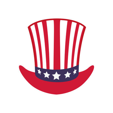 represented: USA concept represented by hat icon. isolated and flat illustration