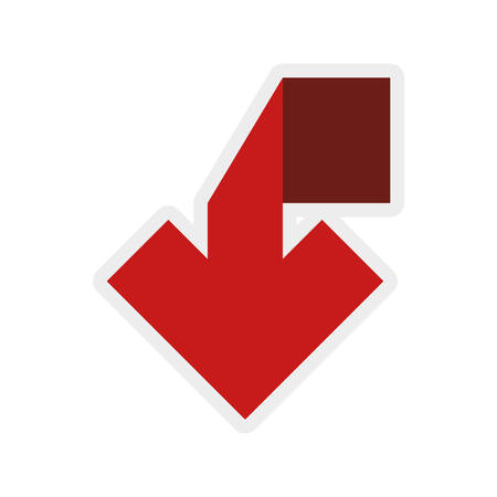 flechas direccion: Direction concept represented by red arrow icon. isolated and flat illustration
