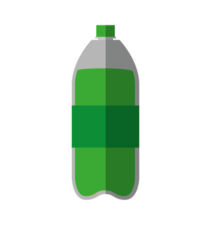 carbonated: Soda and drink  concept represented by bottle icon. isolated and flat illustration
