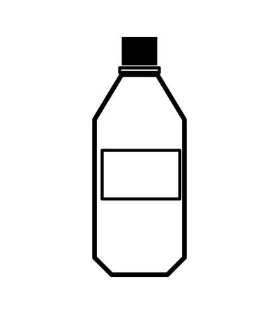 tonic: Soda and drink  concept represented by silhouette bottle icon. isolated and flat illustration Illustration