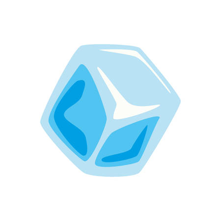 refrigerate: Ice concept represented by cube icon. isolated and flat illustration Illustration