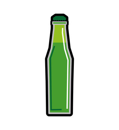 tonic: Soda and drink  concept represented by bottle icon. isolated and flat illustration