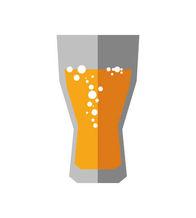 carbonated: Soda and drink  concept represented by glass icon. isolated and flat illustration