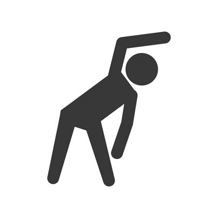 Healthy lifestyle concept represented by pictogram stretching icon. isolated and flat illustration