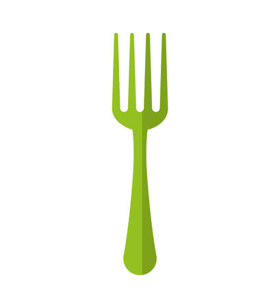 represented: Cutlery concept represented by fork icon. isolated and flat illustration