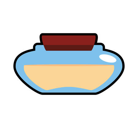 pampering: Spa center concept represented by Bottle of cream icon. Isolated and flat illustration