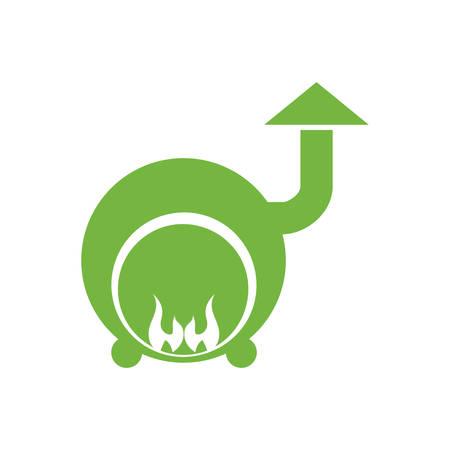 maquina de vapor: concepto de centro de spa representada por el icono de la máquina de vapor. ilustración y plana