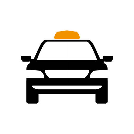 public service: Public service concept represented by taxi car icon. Isolated and flat illustration