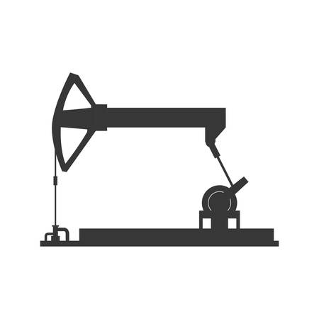petrochemical: Oil industry concept represented by Oil pump icon. Isolated and flat illustration
