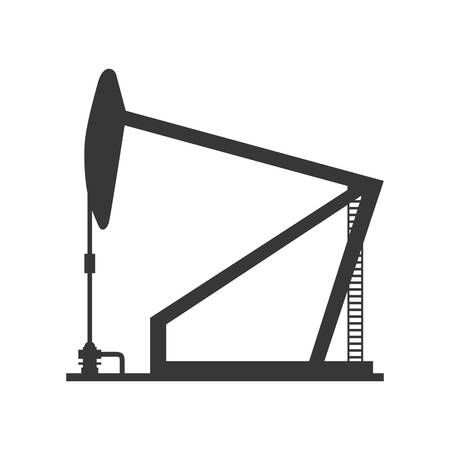 petrochemical plant: Oil industry concept represented by Oil pump icon. Isolated and flat illustration