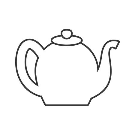 tea kettle: Tea concept represented by tea kettle icon. Isolated and flat illustration Illustration