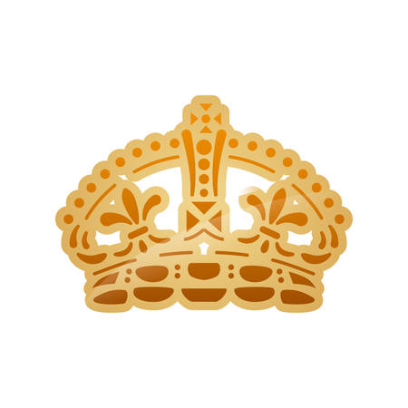 oncept: Royalty oncept represented by crown icon. Isolated and flat illustration