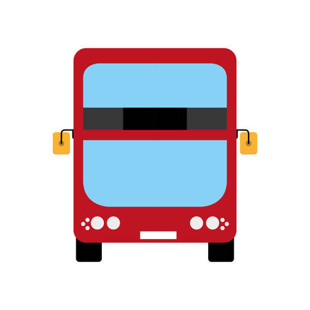 london city: United kingdom concept represented by red bus icon. Isolated and flat illustration