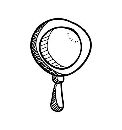 lupe: Instrument concept represented by lupe icon. Isolated and sketch illustration.