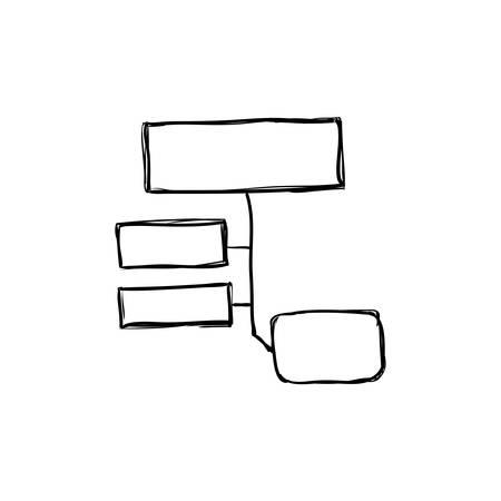 mapa conceptual: infografía concepto representado por el icono de mapa conceptual. ilustración y dibujo