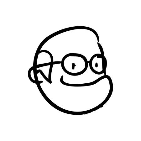 old people: old people and cartoon concept represented by grandfather icon. Isolated and sketch illustration