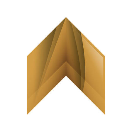 orientation marker: Direction concept represented by wood arrow icon. Isolated and flat illustration Illustration