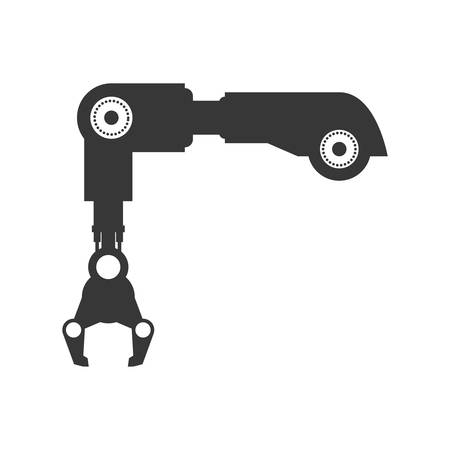 cybernetics: Machine concept represented by robot arm icon. Isolated and flat illustration