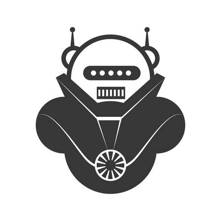 cybernetics: Machine concept represented by robot cartoon icon. Isolated and flat illustration Illustration