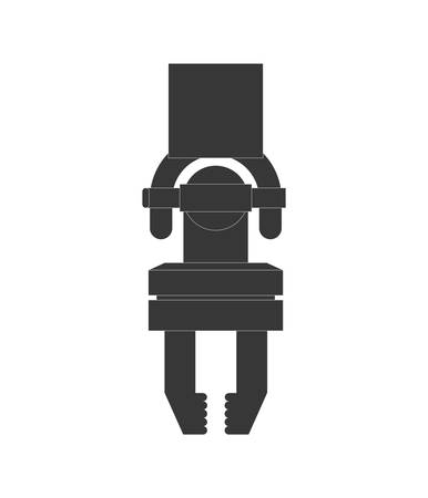 robot arm: Machine concept represented by robot arm icon. Isolated and flat illustration