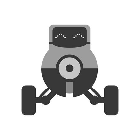 cybernetics: Machine concept represented by camera robot icon. Isolated and flat illustration