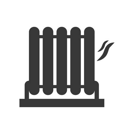 cold room: Object of home concept represented by heater silhouette icon. Isolated and flat illustration