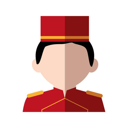 bellboy: Hotel service concept represented by bellboy icon. Isolated and flat illustration Illustration