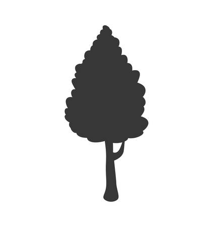 nature silhouette: Nature concept represented by tree silhouette icon. Isolated and flat illustration