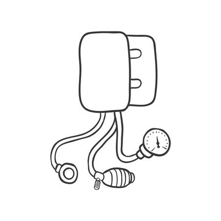 health care concept: Medical and Health care concept represented by pressure icon. Isolated and sketch illustration Illustration