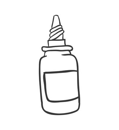 health care concept: Medical and Health care concept represented by dropper icon. Isolated and sketch illustration