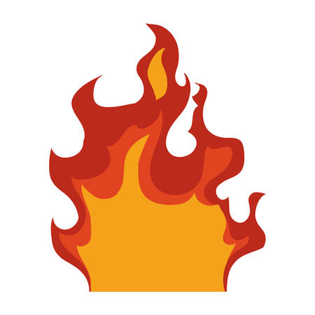 wildfire: Fire concept represented by flame icon. Isolated and flat illustration Illustration